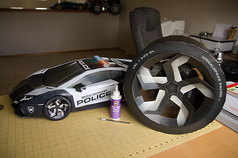 Picture of Lamborghini Aventador A-E2 . Ultimate Papercraft Supercar