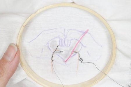 Finishing the Embroidery