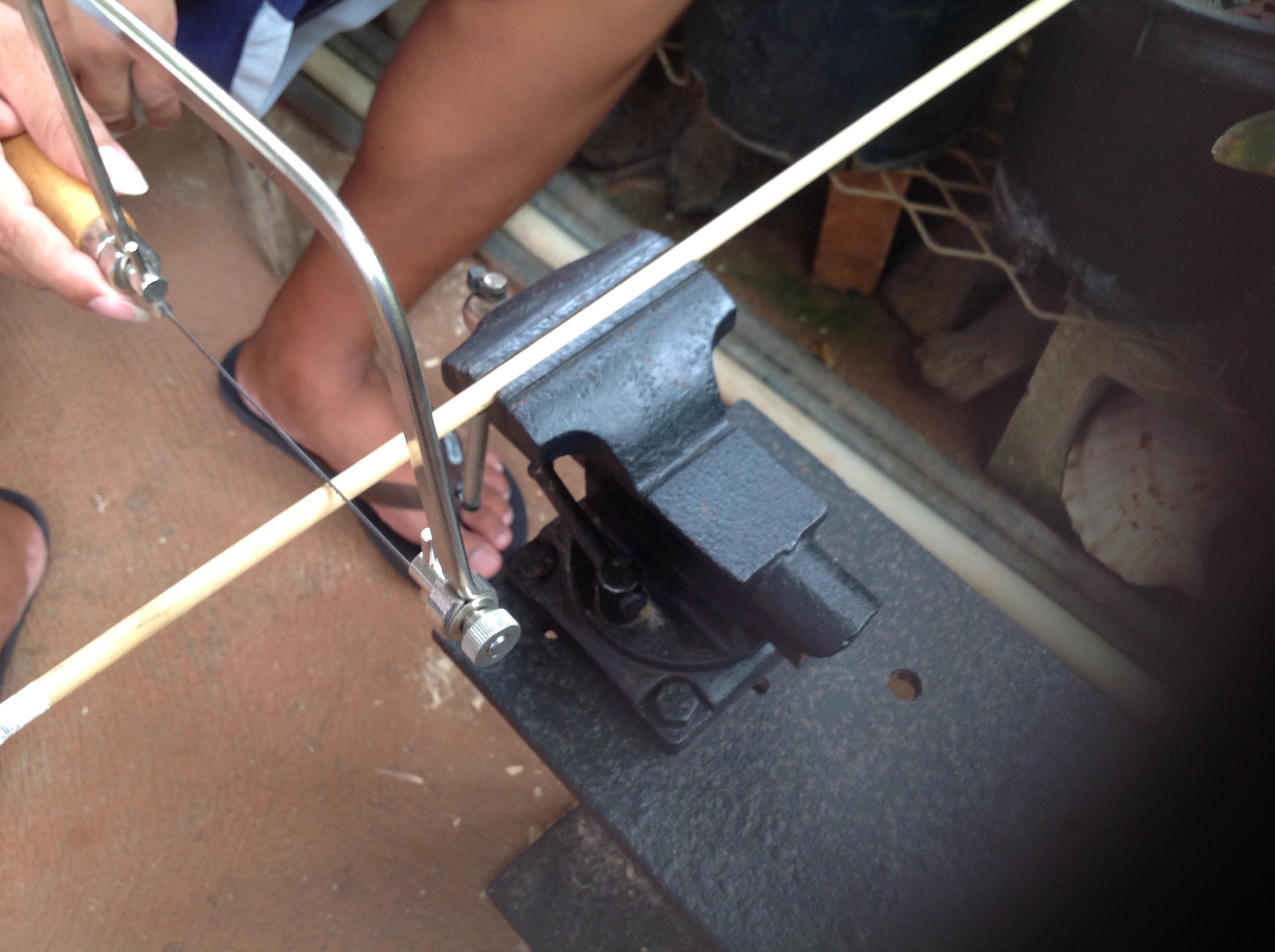 Picture of Cutting the Dowel