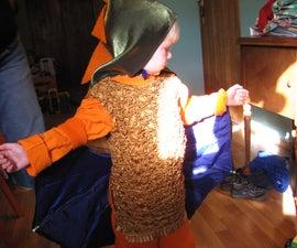 Flying dragon costume for kids!
