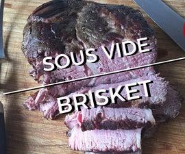 72-hour Sous Vide Brisket - cooked medium rare