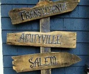 Halloween Directional Pallet Sign