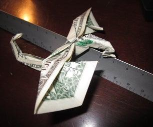 Origami Dollar Bill Dragon