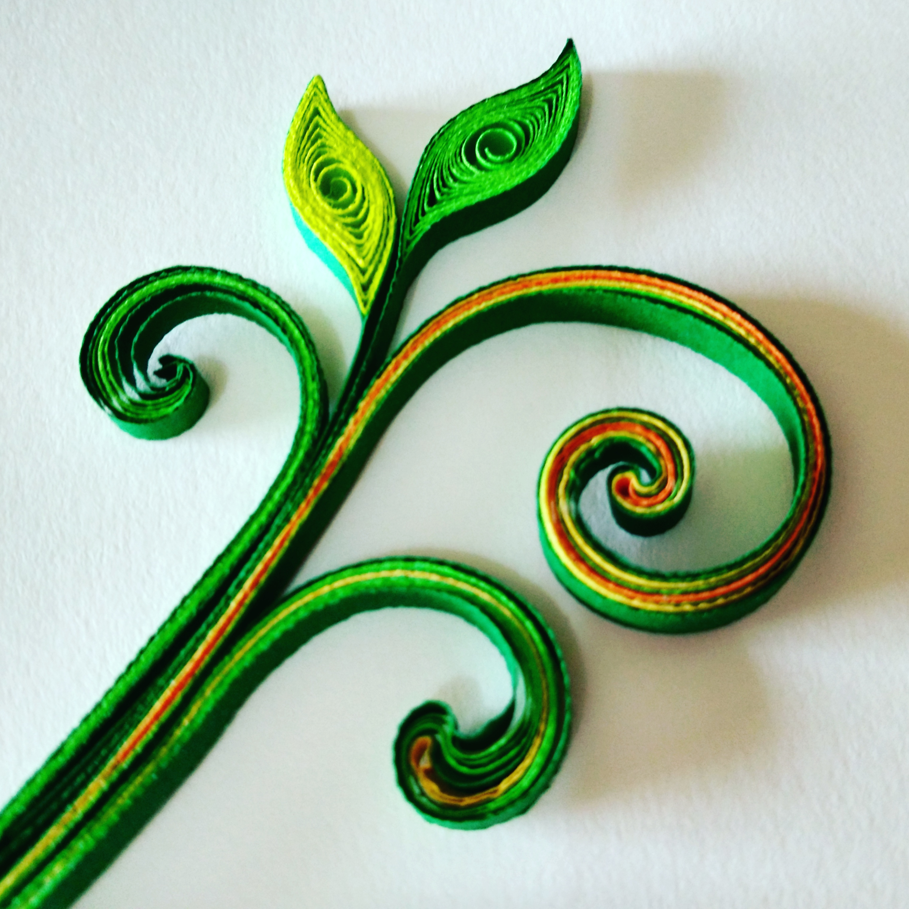 Picture of Leaves - Quilled Leaves and Tendrils