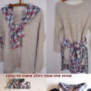 How to Make Shirt Type-like Stole.DIY Idea Recycling an Old Shirt