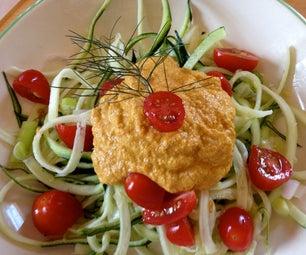 Cool Spiral Zucchini (Raw Spaghetti)