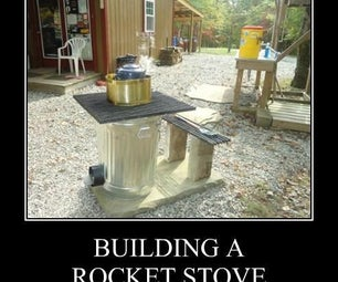 Building a Rocket Stove for the Cabin