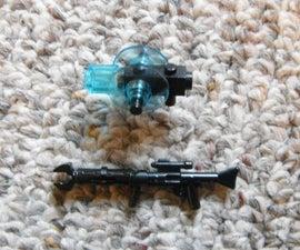 How to Make A Lego Uber Easy Minifig Sonic Shotgun+Claw Rifle