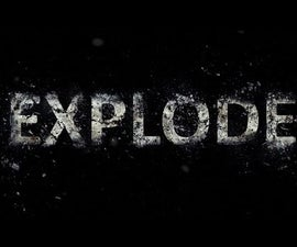 Exploding Text Effect: Photoshop Tutorial