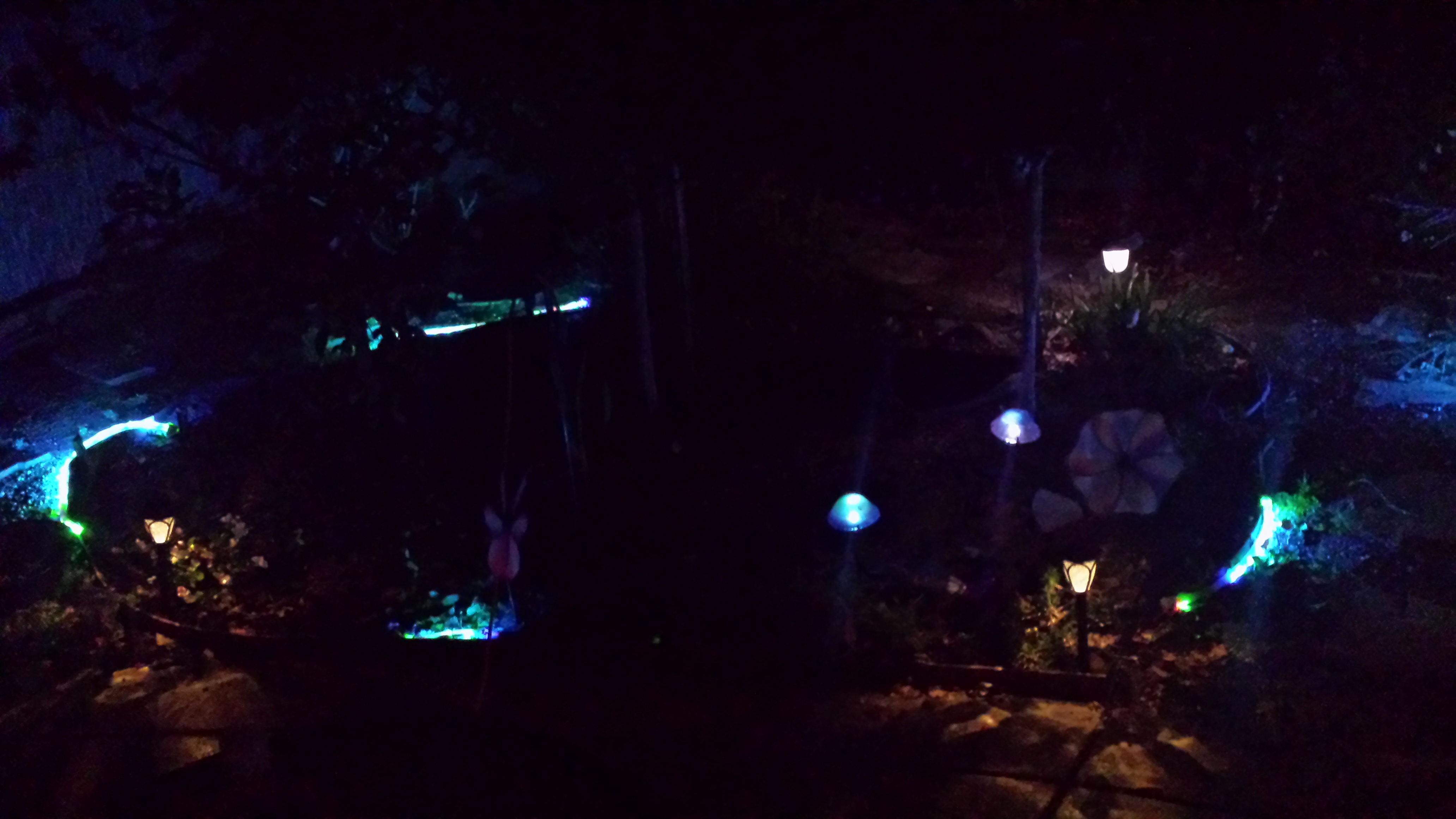 Picture of Solar Powered Color Changing Yard Lighting.
