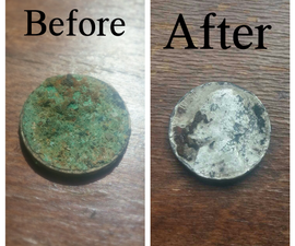 Removing corrosion on old coins / small metal objects