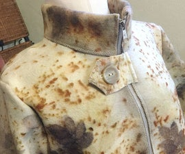 Eco Printed Jacket From UpCycled Wool Blanket