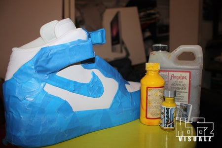 Step 2: Masking of Sneakers for Paint