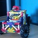 KNEX Small Truck With Steering, Engine Component and Transmission