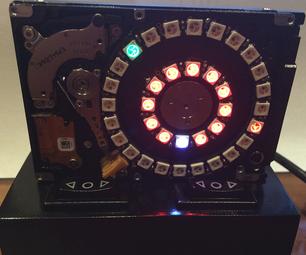 Hard Drive NeoPixel 3D Printed Clock
