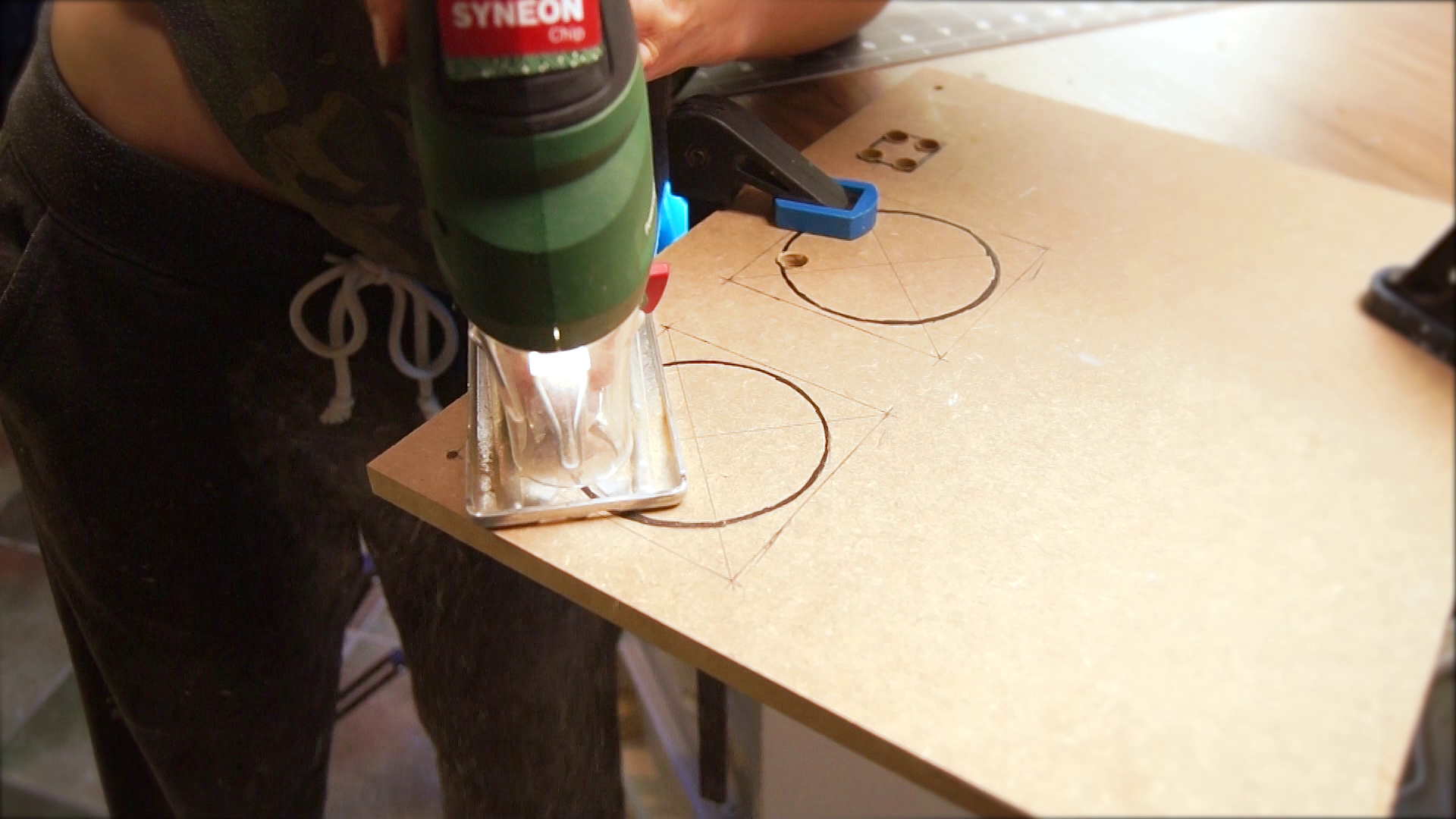 Picture of Cutting Holes for the Fans
