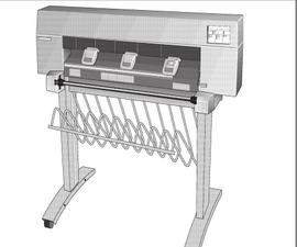 HP DesignJet 430 Conversion to X Y Plotter/Vinyl Cutter WIP