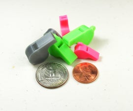 Design a Mini Whistle in 123D Design