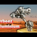 Futuristic Martian Tree Sculpture Made With Aluminium Poured in to Orbeez