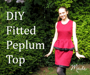 How to Make an Easy Fitted Peplum Top (DIY) (VIDEO)