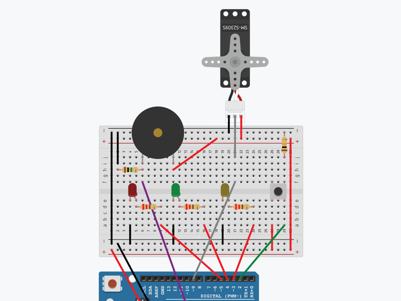Picture of Attach the Servo (simulator)
