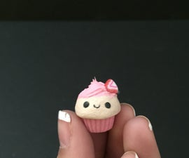 polymer Clay Charm (cupcake)
