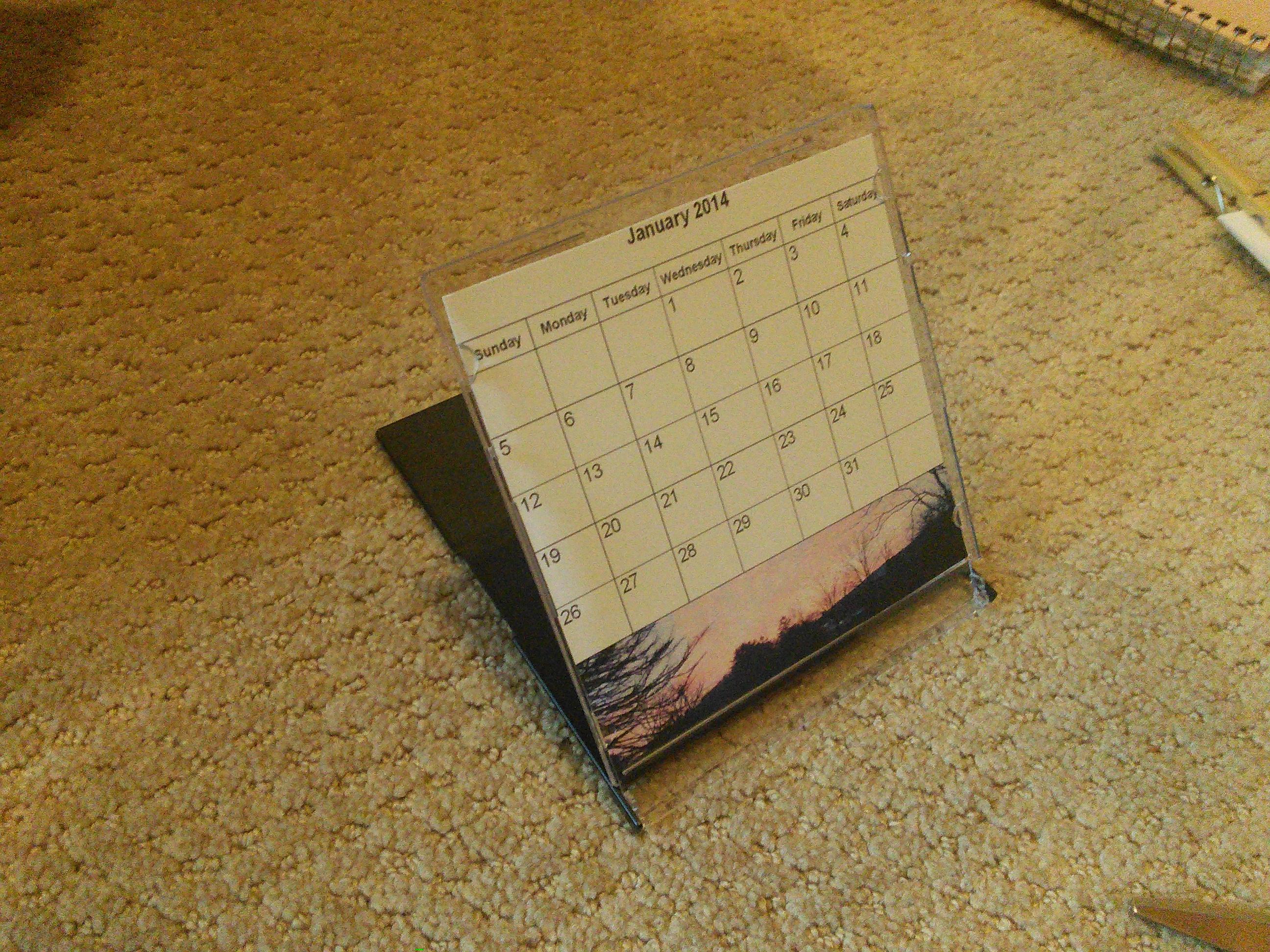Picture of CD Case Calendar