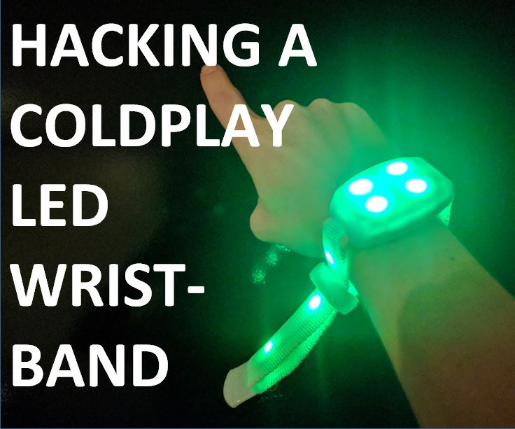 Picture of Hacking a Coldplay LED Wristband