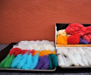 How to Process Card and Dye Raw Wool