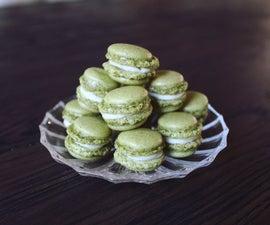 Tiny Matcha French Macarons