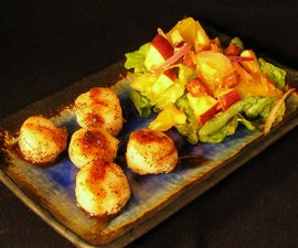 Pan-fried Scallops With Sesame Lime Sauce