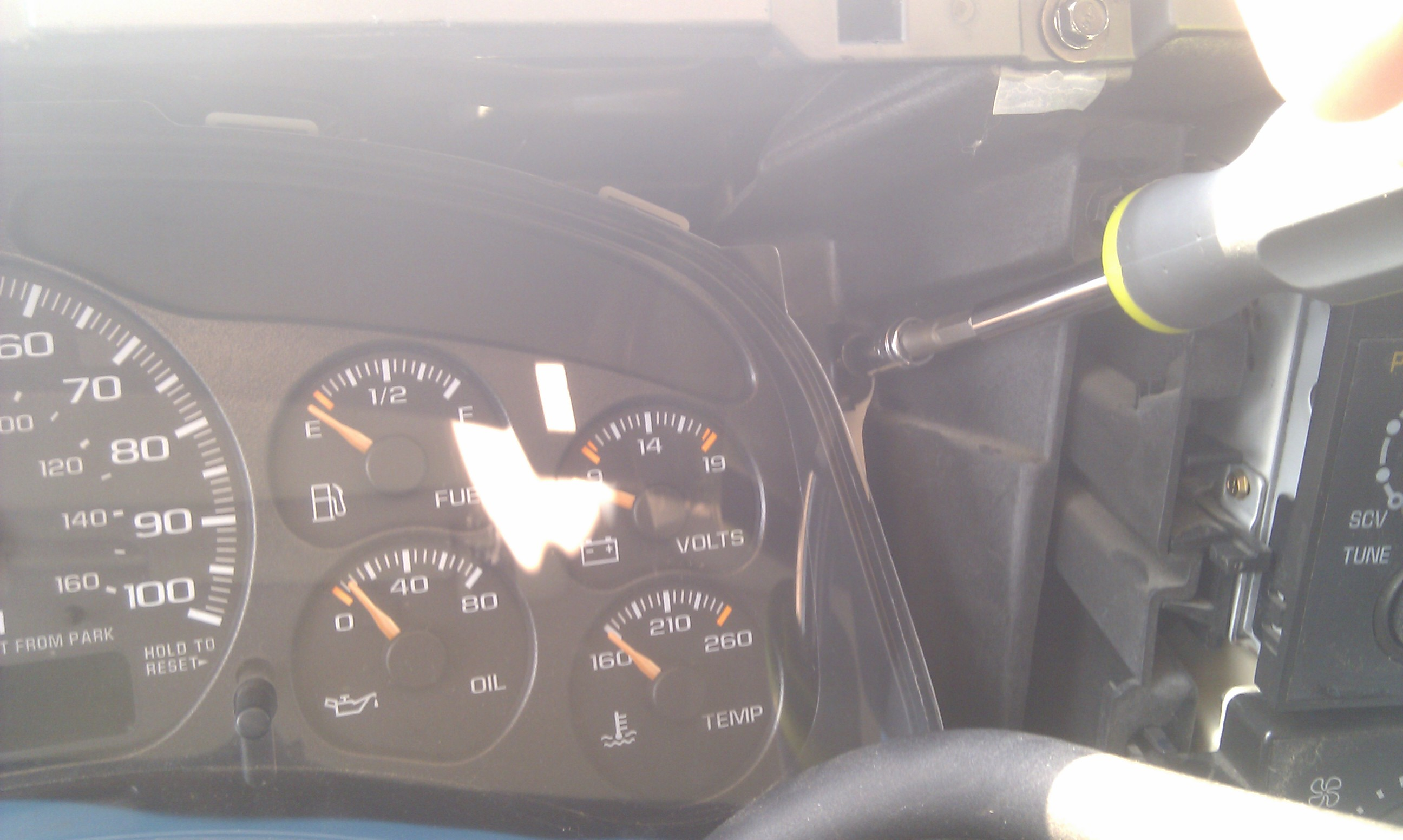 Picture of Removing the Instrument Cluster