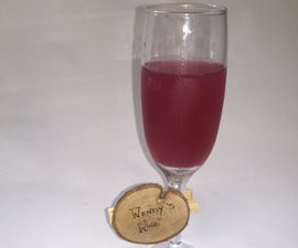 Simple Wooden Wine Charm
