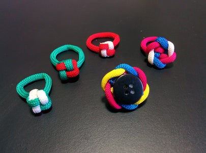Fashion Finger Rings: Paracord Pieces of Length 6-8 Inch