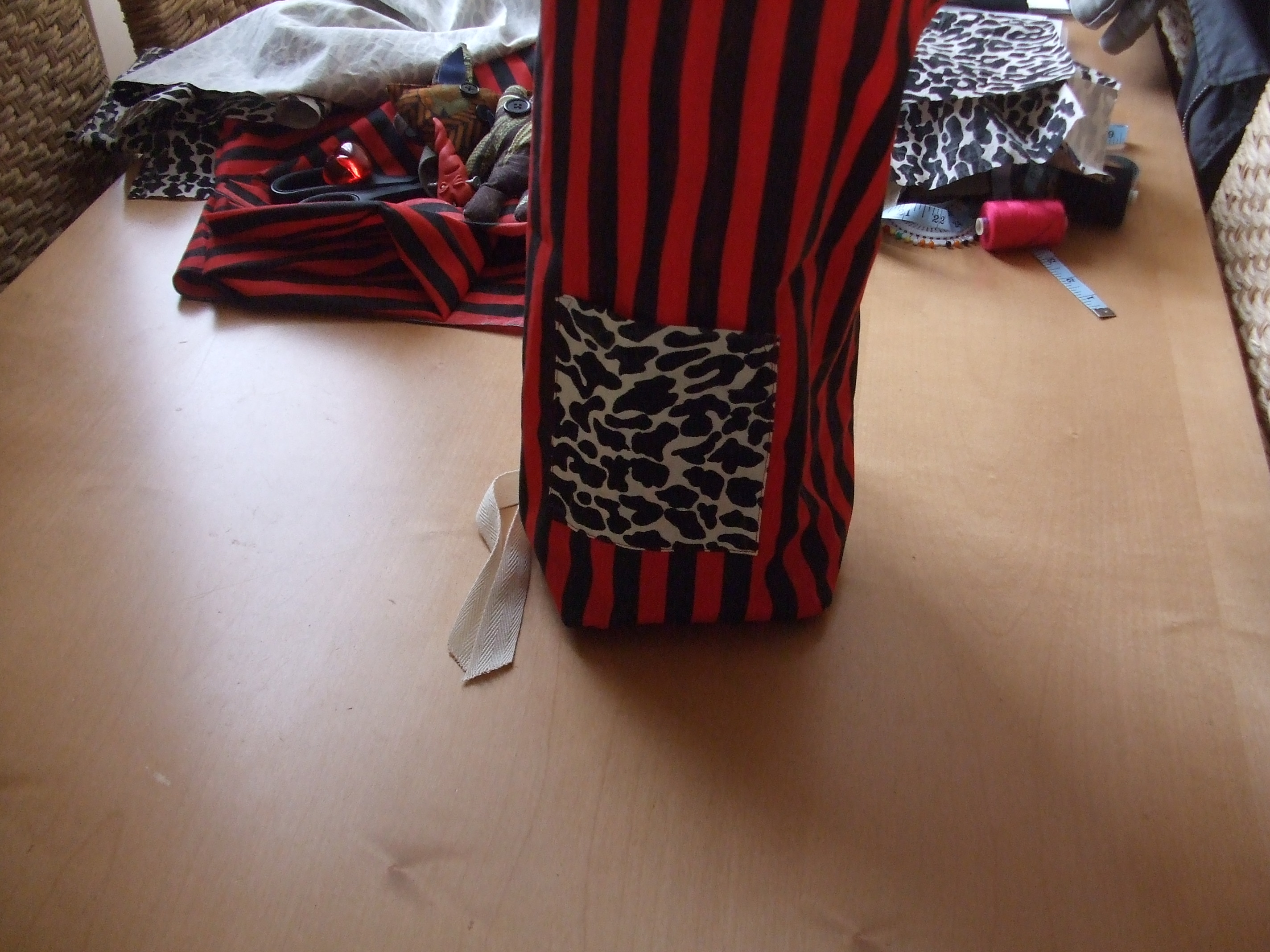 Picture of Sewing the Base to the Bag