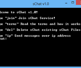 Chat program for batch!