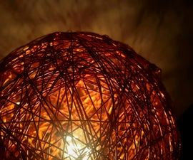 Glowing Copper Wire Lamp