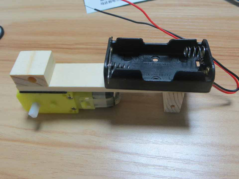 Picture of Make the Batteries Holder Adhere to the Wooden Frame