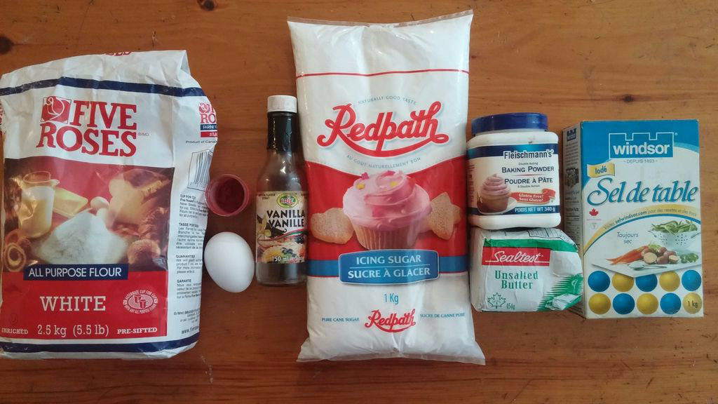 Picture of Ingredients for Red Cake