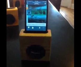 Passive 2x4 IPhone Speaker - Certainly Unexpected