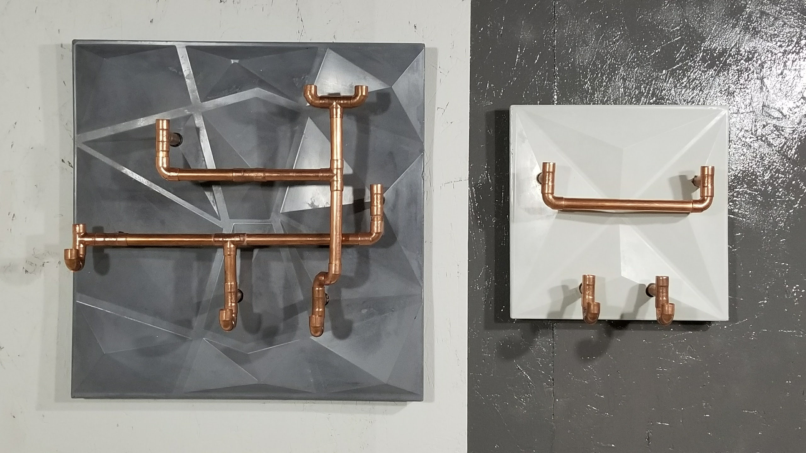 Picture of Use a Cheap PVC Tile to Make Concrete & Copper Coat Rack