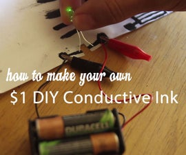 $1 DIY Conductive Ink and Paint from Fire! (non toxic, homemade, cheap)