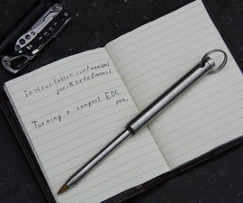 Turning a compact metal pen