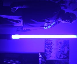 6' RGB LED Lightsaber Floor Lamp W/ Remote
