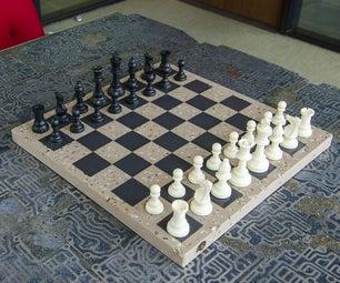 Cast Concrete Chessboard
