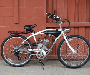 Custom Gas Tank on a Motorized Bicycle