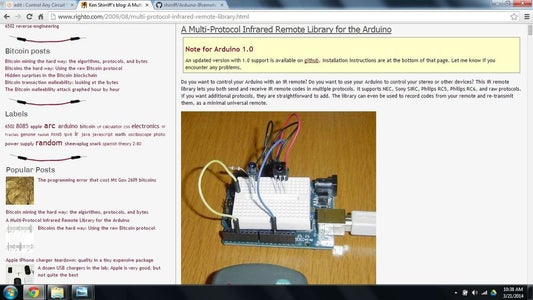 Download and Install the IR Remote Library