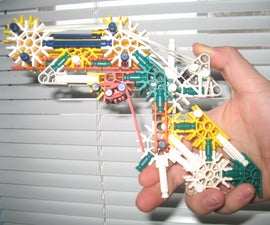 Knex Pistol with True Trigger and cocking mechanisms