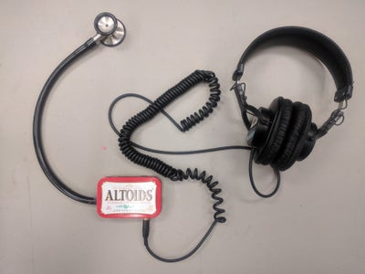 Electronic Stethoscope With MEMS Microphone and Recharchable LiPo Battery