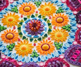 A Meter Big Quilled Mandala!